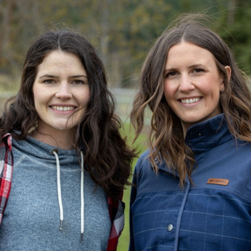 Friendly Composting - Claire McLoughlin (left), Katie Forsyth (right)