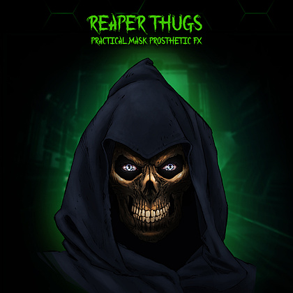 Our practical FX team will sculpt a custom reaper mask for all Reaper Thug characters to wear. Beneath the mask they have a special make-up FX that the audience will have to wait till it comes out to see!