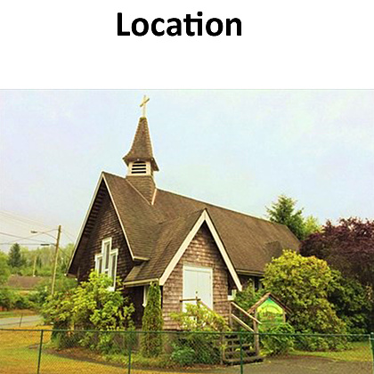 St Mary's Ecumenical Church, built in 1875, and re-located from Duncan, BC to Port Renfrew will be an ideal filming location.