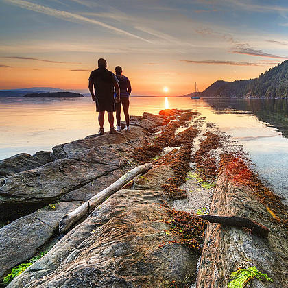 One of the best sunset locations you will find in all of BC. No CGI needed.