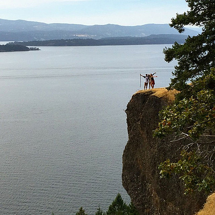 """Secret """"Locals Only"""" area on Galiano with stunning 360 views of the Gulf Islands. We'd use drones to help us capture the full beauty of the area while The Funk Hunters & Chali 2na perform."""