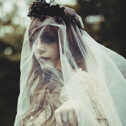 Equal parts Miss Havisham, Catherine Earnshaw, and Joelle Van Dyke, our Veiled Woman follows a long line of gothic gals.  Think lace, gauze, lush flowers and stained lips. With Amy's expertise in styling, we're going for a look that's pretty and also really creepy.