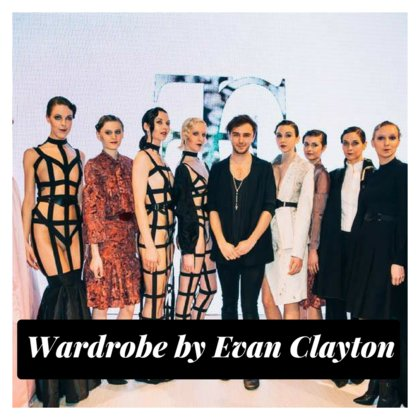Evan Clayton is a Vancouver fashion designer who strives to marry art and fashion in such a way as to create political, personal and artistic expression. A graduate from the Blanche MacDonald Fashion Design program, Evan is trained in the art of tailoring and is well versed in the fluidity of drapery.