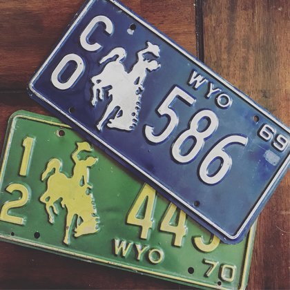 If we have a police vehicle we need Count Owned license plates that match, here we have 2 Lincoln County license plates for the vehicles in the web series.