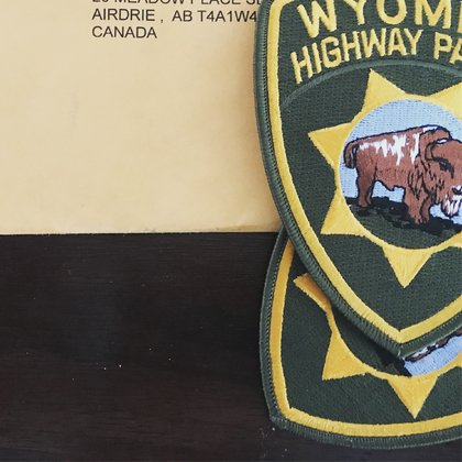 We've been building everything from scratch, the entire Wyoming Highway Patrolman outfit has been made from ordering many items online and seeking out local talent to help us.