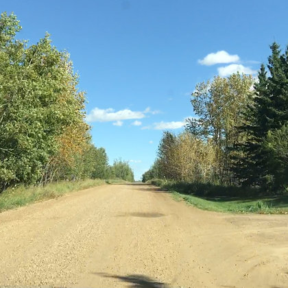 Traveling back roads on the way to the pow wow.