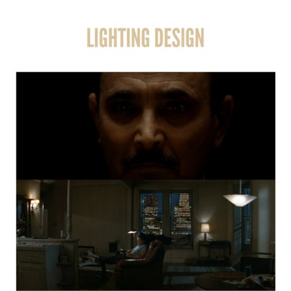 Thoughtful and effective lighting design is critical to achieving the look we're going for with the film. The first time we see Pasquale he will be lit from overhead, making him elusive from the audience. The set will have pools of mixed bright/dark light, that the characters will move through.