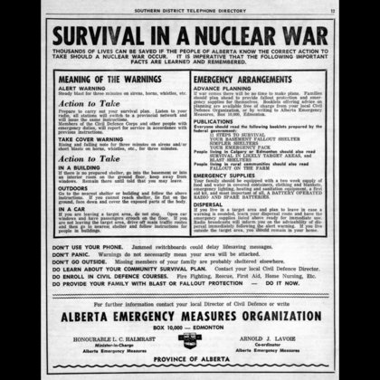 The trick to surviving a nuclear war is to be prepared. This information was supposed to prepare specific groups and and the general population for the worst. Some of the pamphlets can be downright questionable.  How do we know this for a fact? Whether the information in the communications was tested is debatable, but there is a definite trajectory in the evolution of the message, (explained in the film).