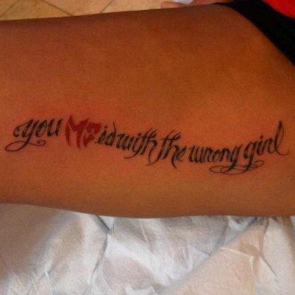 Patrycia's tattoo and a reminder of her strength.
