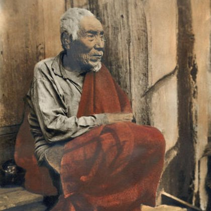A Coast Salish Elder sits in Quiet Contemplation, all while the photographer captures his image onto film; with the help of actors we hope to recreate this moment in time.