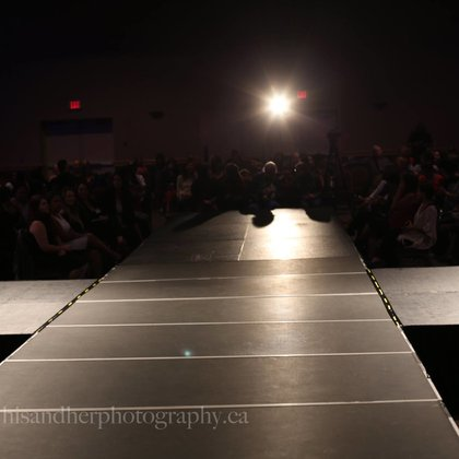 The runway at the first Fashion Speaks International fashion show