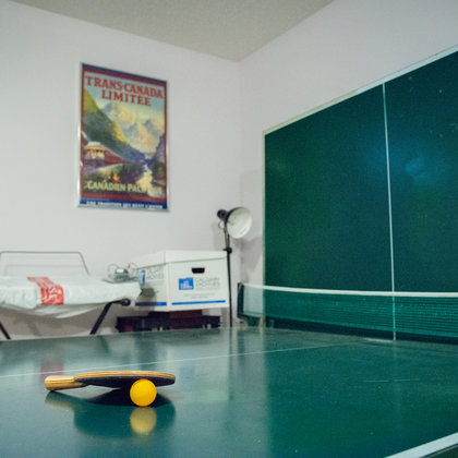 "The ping pong table will have a thematic feature in ""Ginger Beef."""