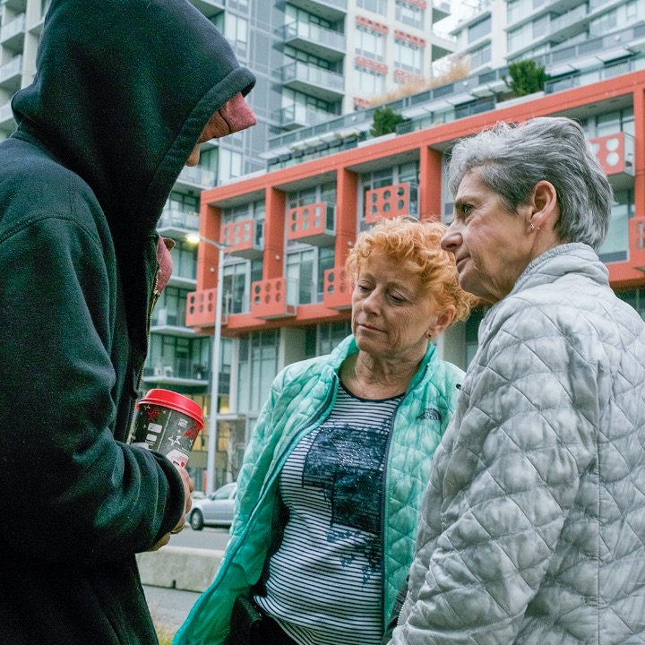 Evanna Brennan and Susan Giles often meet their patients on the street there they live. Conversations range from how they are feeling to whether they're getting enough to eat, are they buying contaminated street drugs, are they using at a safe injection site, do they need winter clothes, do they need medical care, and what else can Brennan and Giles do to help them?